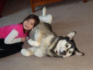 lug with daughter