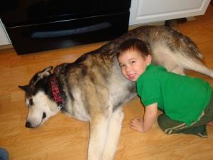 Lug with son